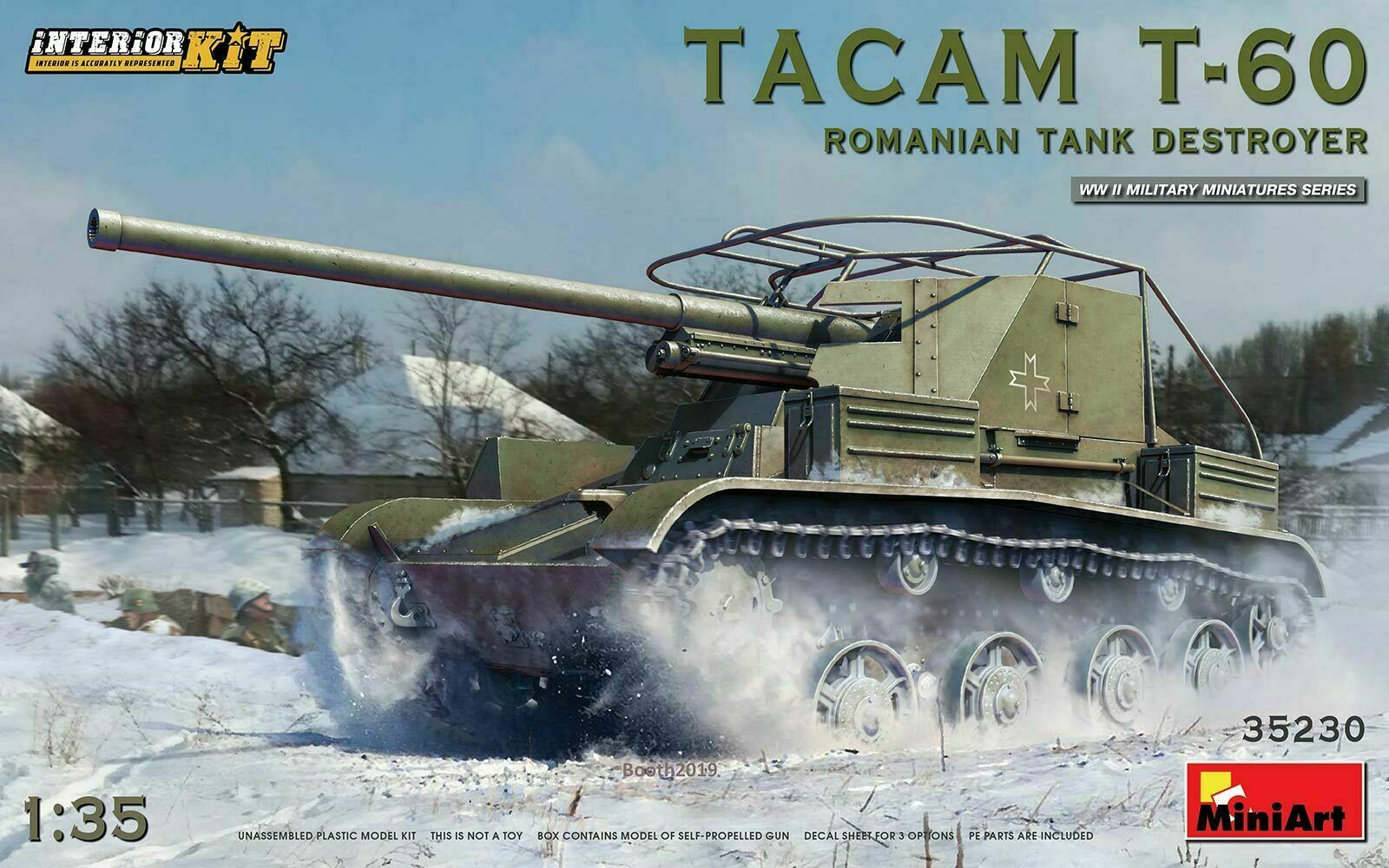 MiniArt 1 35 Kit Tank TACAM T 60 Romanian Tank Destroyer Art 35230