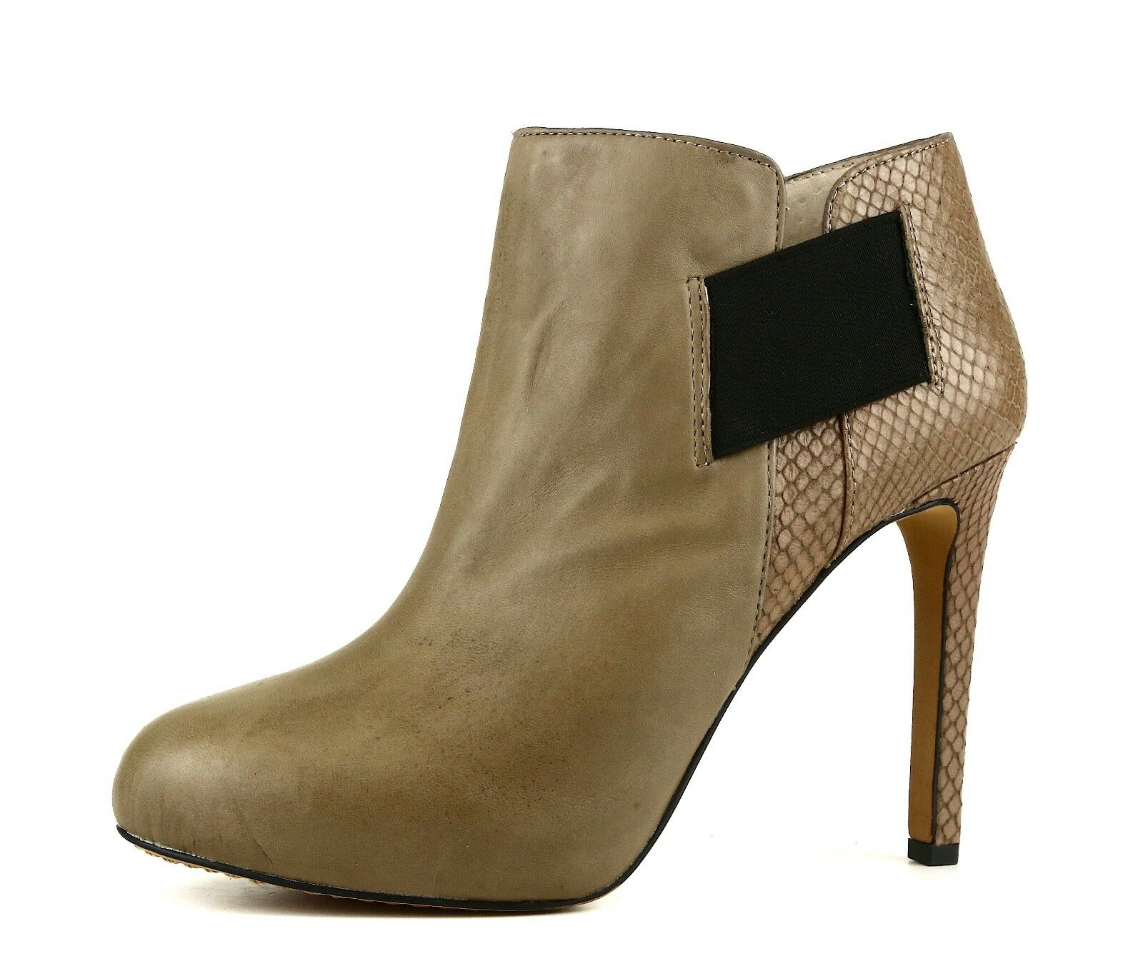 Vince Camuto Arianah Leather Bootie Taupe Women Sz 8 M 5510