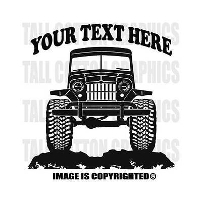 WILLYS OVERLAND JEEP WAGON  Truck 4x4 Off Road Personalized Custom VInyl Decal