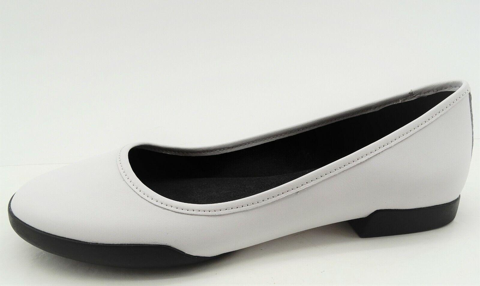Camper Damen Schuhe Casi TIPTAP Ballerinas Weiß   Schwarz Slipper Leder Gr 40