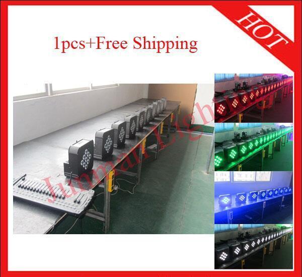 1pc 910W RGBW 4 in 1 Wireless DMX Battery Power Led Par Light Free Shipping