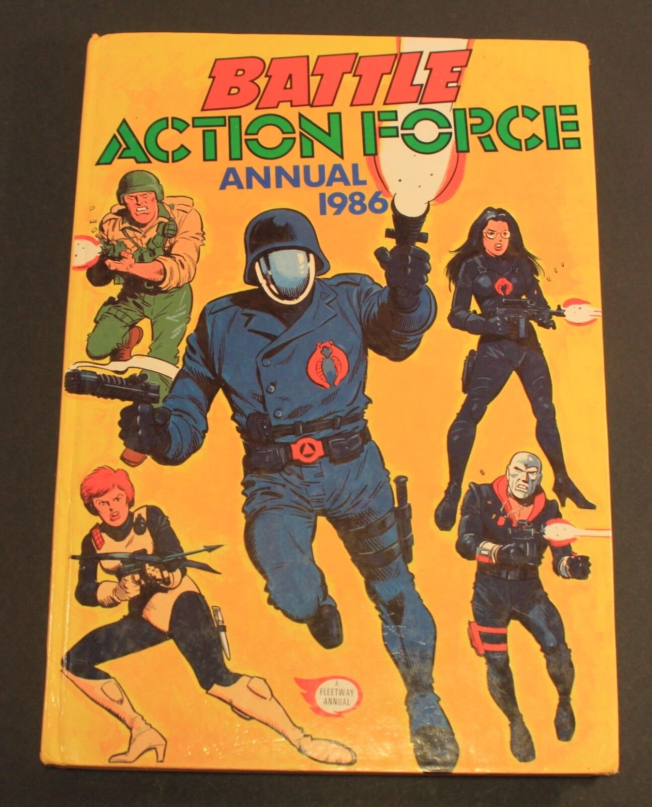 1986 Fleetway ACTION FORCE   G.I. JOE Annual Hardcover UK exclusive book GD cond