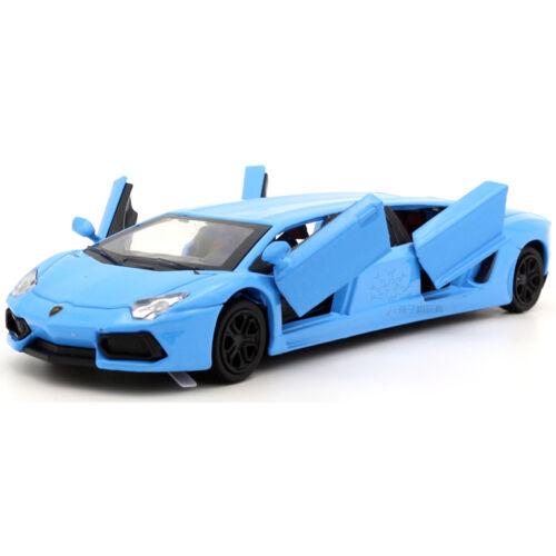 1//36 Scale Lamborghini Diecast Mini Car Model Sound/&Light Blue No Box