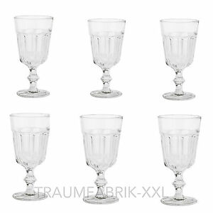 6x Bicchiere Da Vino Vetro Per Acqua Dessertglas Occhiali Dolce Set