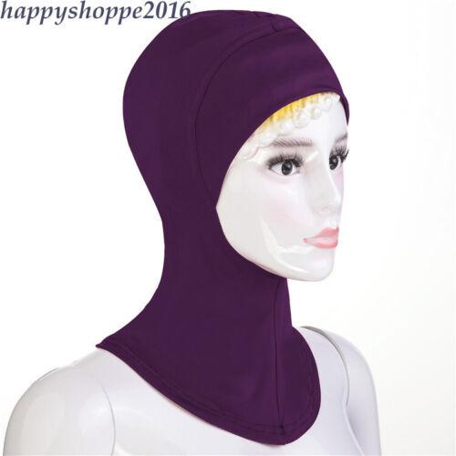 Muslim Under Scarf Cotton Inner Ninja Cap Full Cover Hijab Women Hat Headwear