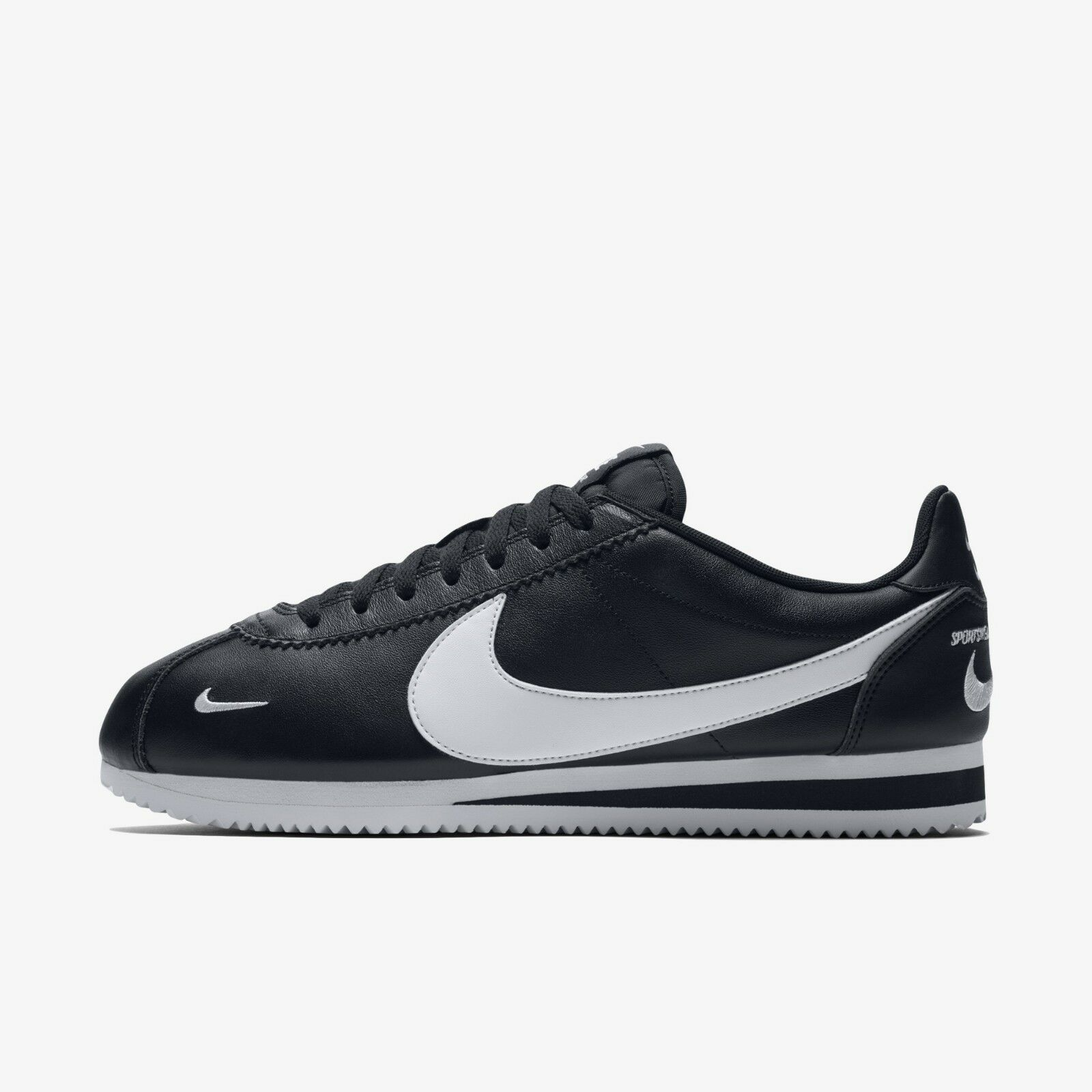 Nike Classic Cortez Premium 807480-004 Black White Mens shoes Sneakers