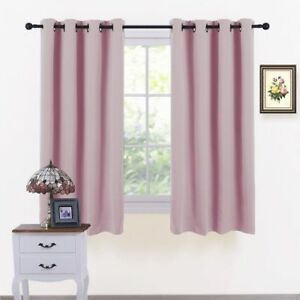 Details About Eyelet Blackout Curtains Thermal Insulated For Nursery S Room Light Pink