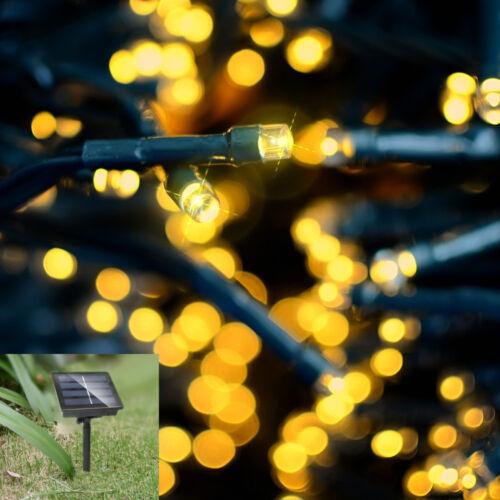 50LED Solar Power Fairy Lights Lamp String Garden Outdoor Party Wedding Xmas UK