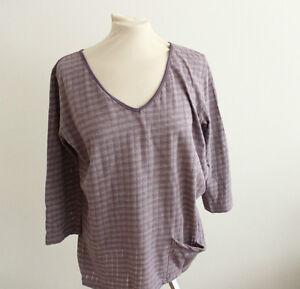 Designer-MARKET-T-Shirt-aus-USA-Gr-S-36-longsleeve-lila-gestreift-mit-Taeschchen