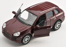 BLITZ VERSAND Porsche Cayenne Turbo bordeaux 1:34-39 Welly Modell Auto NEU & OVP