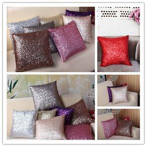 Mermaid Pillow Sequin Cover Glitter Sofa Waist Throw Cushion Case Home Decor