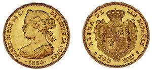 100-GOLD-REALES-ORO-ISABELLA-II-ISABEL-II-MADRID-ESPANA-1864-AU-SC
