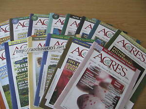 Acres-USA-Organic-Sustainable-Farming-Gardening-Agriculture-2009-2011-U-S-A-LOT