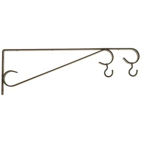 """HoldAll 15/"""" Plant Bracket Hanger Holder Reversible Dual Hooks #516BL Outdoor New"""