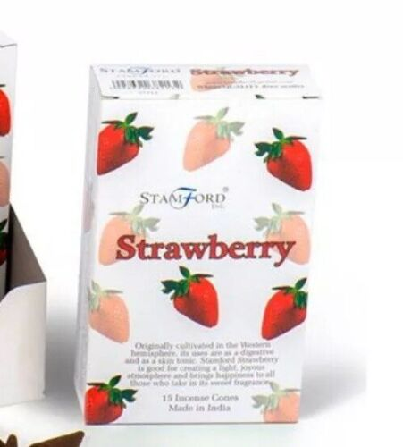 Stamford Strawberry Scent Incense Cones For Burners Aroma New Age Spiritual