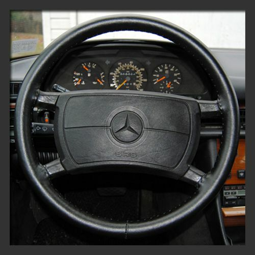 FAST SHIP! Wheelskins Size AXX BLACK Custom Fit Leather Steering Wheel Cover