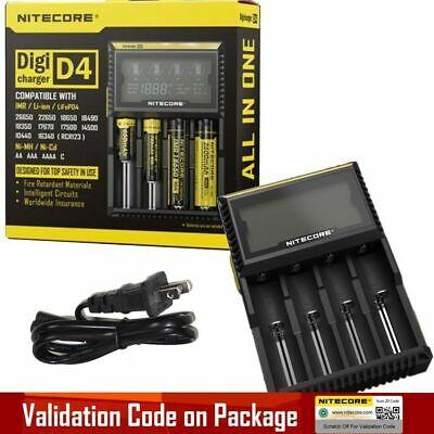 New VERSION NITECORE D4 Digi charger For 18650 14500 18350 16340 Li-ion /& Ni-MH