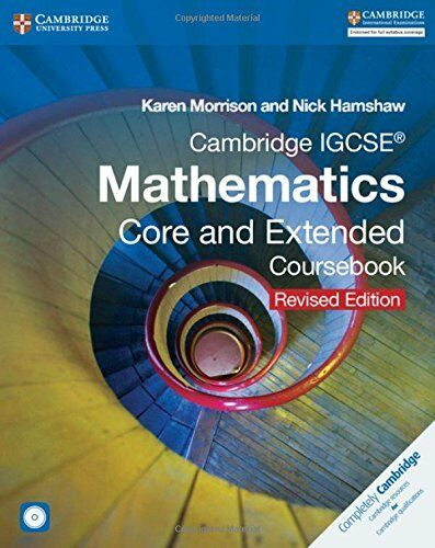 1 of 1 - Cambridge IGCSE Mathematics Core and Extended Coursebook with CD-ROM (Cambridge
