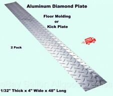 Aluminum Diamond Plate 2 4 X 48 Strips Floor Molding Kick Plates Silver