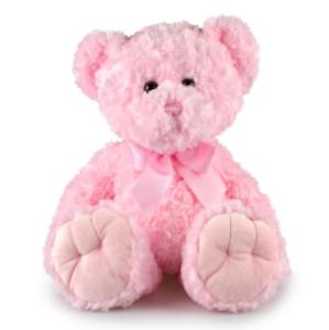 MAXI-MAX-PINK-TEDDY-BEAR-35CM-I-Birthday-Presents-Baby-Shower-Cuddly-Toys