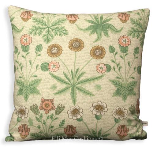 William Morris Daisy Luxury Green Fabric Vintage Designer Cushion Pillow Cover