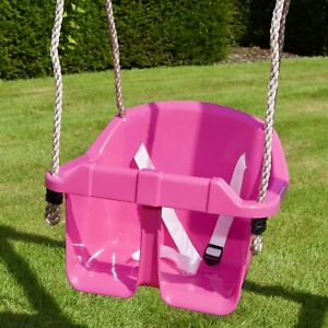 Children-s-Toddler-Baby-Adjustable-Bucket-Swing-Seat-by-Rebo-3-Colours