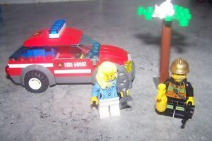 Intelligent Lego City - Set 60001 - [ La Voiture De Pompier ] - 72 Pieces Avec Les éQuipements Et Les Techniques Les Plus Modernes