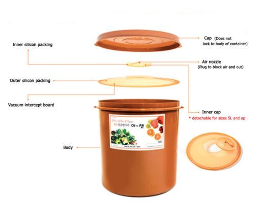 E-Jen Kimchi Sauerkraut Fermentation Container with Inner Lid Round 0.15G 0.6L