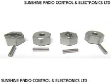 RC EP Nitro 1/10 12mm Hex Alloy Drive Nut Set Wheel Hub Adapter Nuts + 4 Pins MS