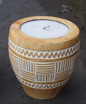 Große Kerze 23cm Deko Kerzenständer Aus Holz Paraffin Ca. 4,4kg Feng Shui Lounge Eine Hohe Bewunderung Gewinnen