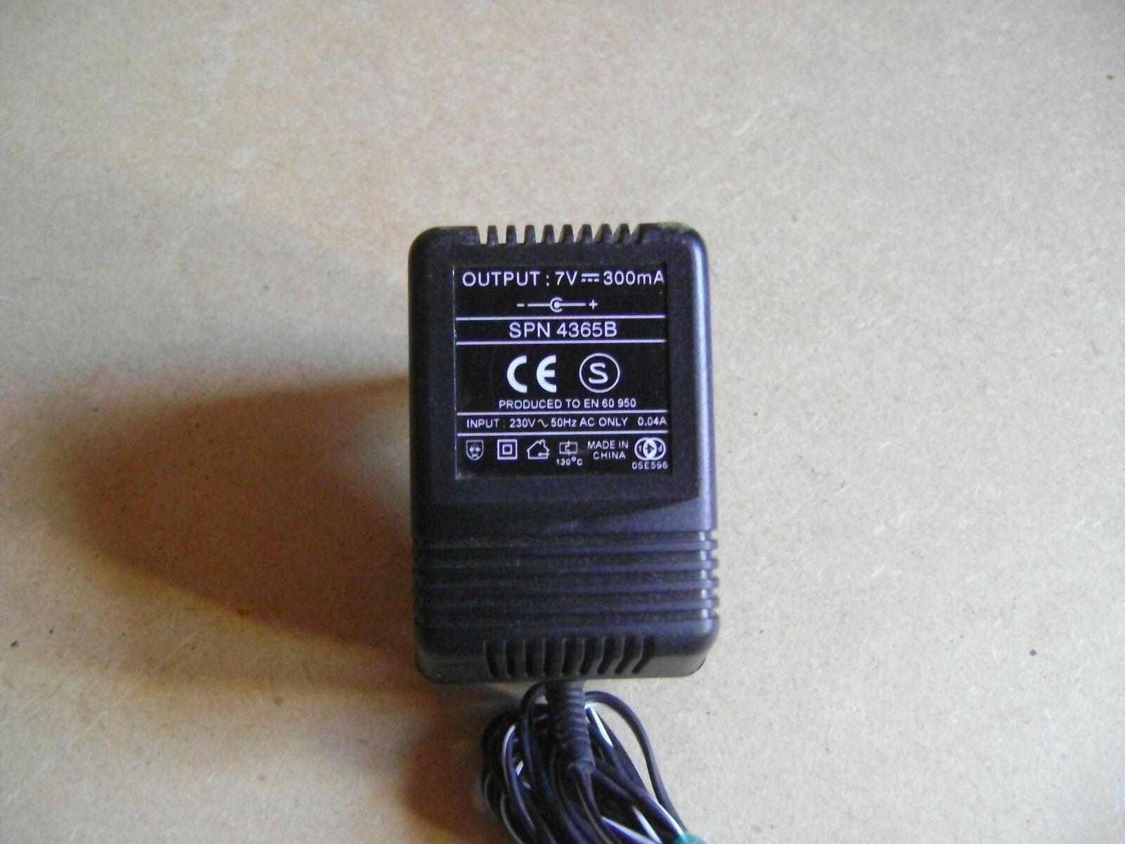 Adaptateur Secteur Chargeur Alimentation 7V DC 300mA SPN4365B    /AA25 30b947