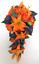 17-piece-Wedding-Bouquet-Bridal-Silk-Flowers-Bouquets-ORANGE-LILY-PURPLE-PLUM thumbnail 5