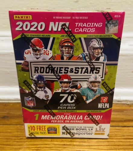 2020 PANINI ROOKIES & STARS NFL FOOTBALL BLASTER BOX TUA HURTS HERBERT PRIZM RC