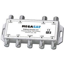 Megasat 8x1 8/1 DiSEqC Switch Schalter Sat Verteiler Umschalter für 8 Satelliten