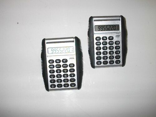 Two 6 Function Pocket Calculator with New Battery with ACR Logo//Initials