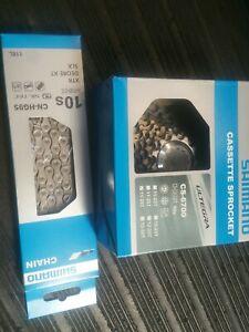 Shimano-Ultegra-11-28t-CS-6700-10-speed-Cassette-with-CN-HG95-chain