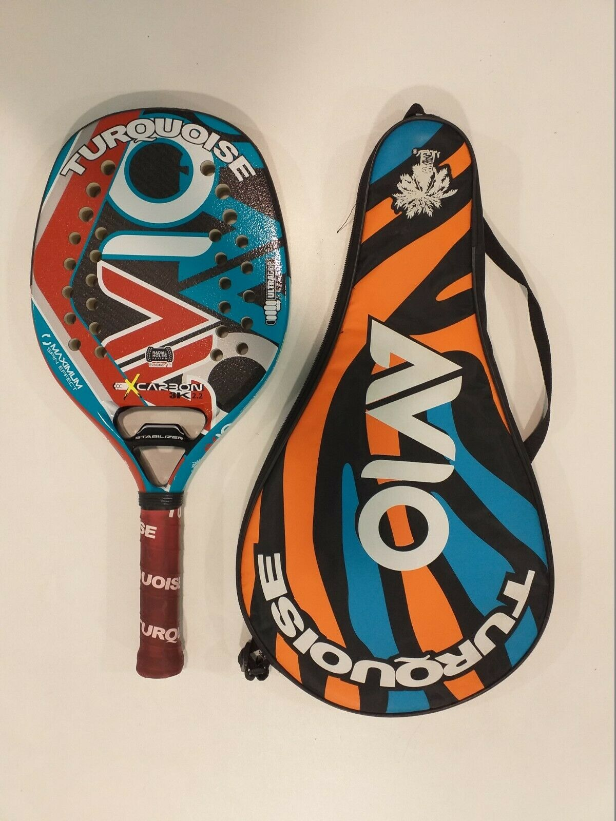 plage Tennis Racquet Turquoise Avio 2018-used + Case and ball tribute
