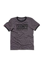 Triumph Motorcycle England Retro T-Shirt S-XXL Darkgrey