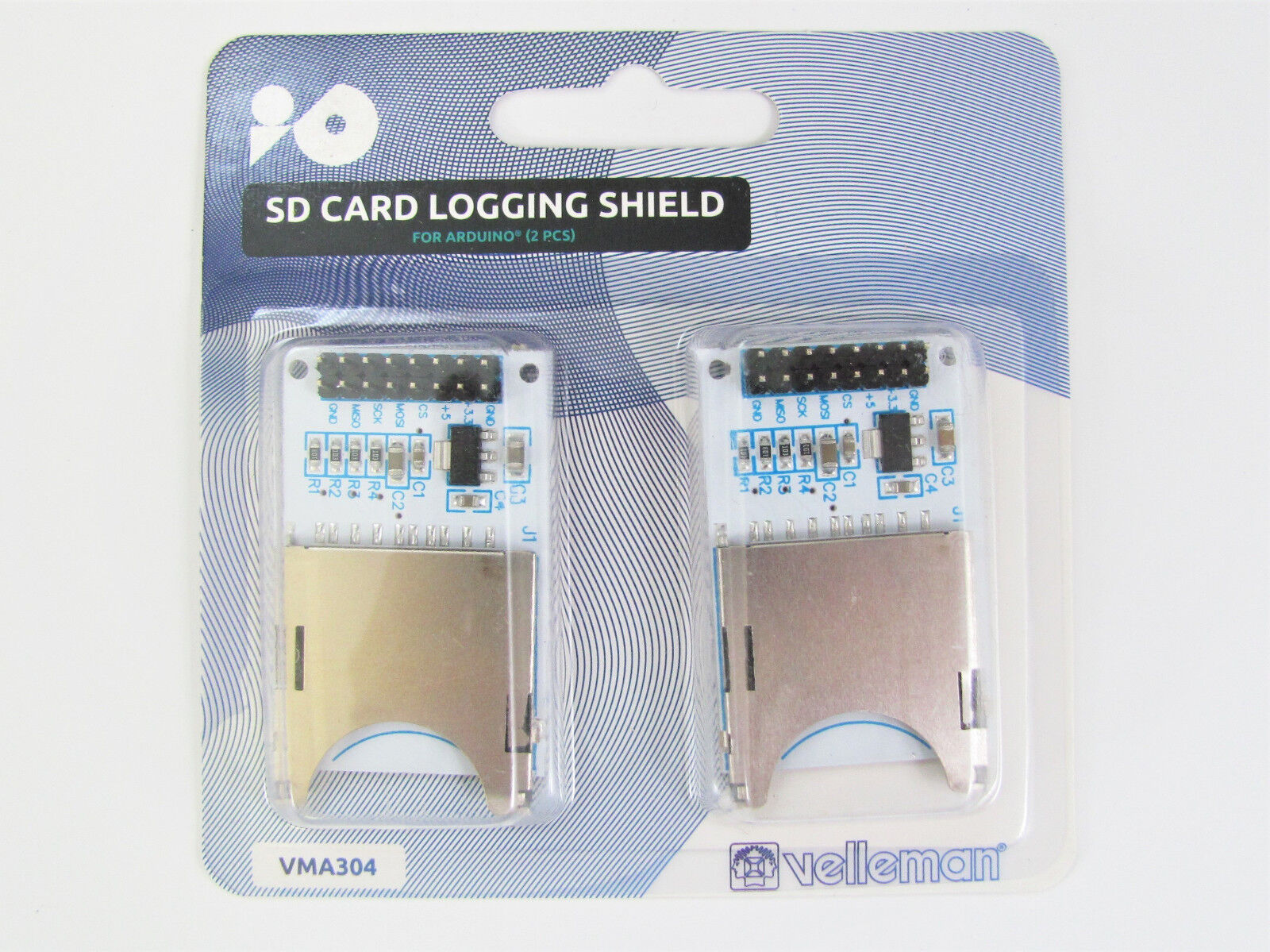 2x Sd Card Logging Shield For Arduino Velleman Vma304 Ebay Wiring Norton Secured Powered By Verisign