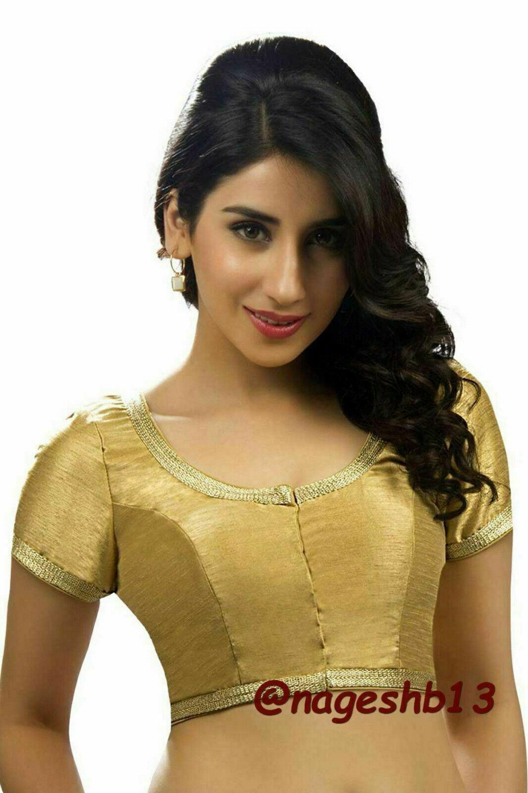 Readymade Saree Blouse,Designer Sari Blouse Golden Blouses, Indian Blouse