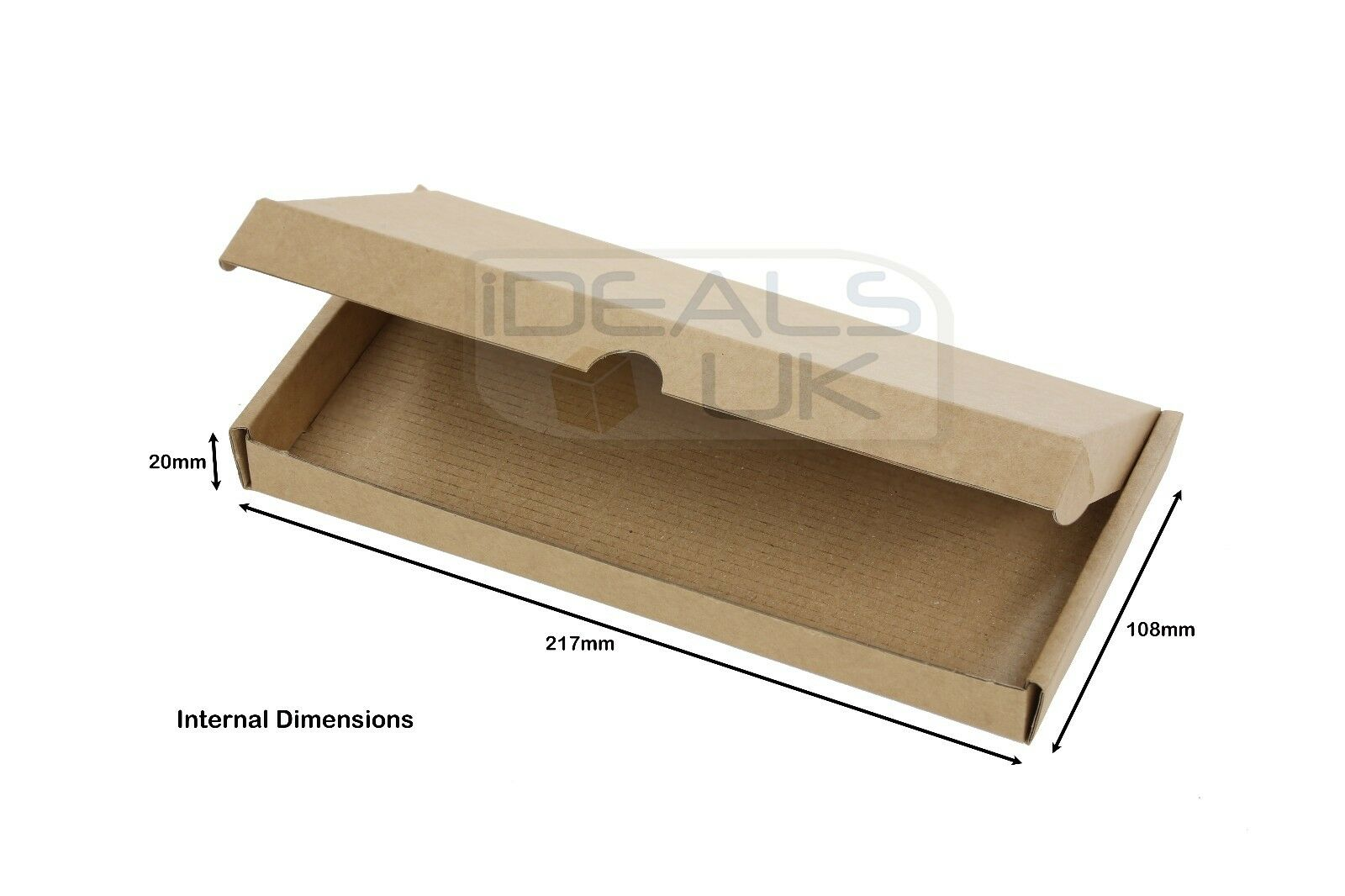 ROYAL MAIL LARGE LETTER DL SIZE STRONG CARDBOARD MAILING BOX - 217 x 108 x 20mm
