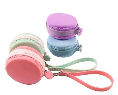 New Fashion Women Cute Macaron Silicone Waterproof Coin Bag Pouch Purse Wallet