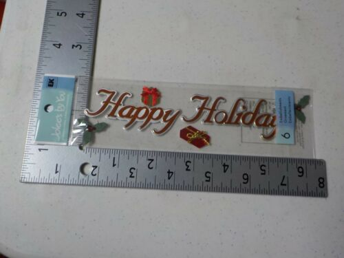 JOLEE/'S BY YOU HAPPY HOLIDAYS WORD CHRISTMAS DIMENSIONAL EMBELLISHMENT NEW A5382