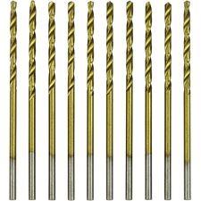 """10pc Mini Micro High Speed Steel Twist Wire Gauge Drill Bit #78 0.0145/"""" Shank"""