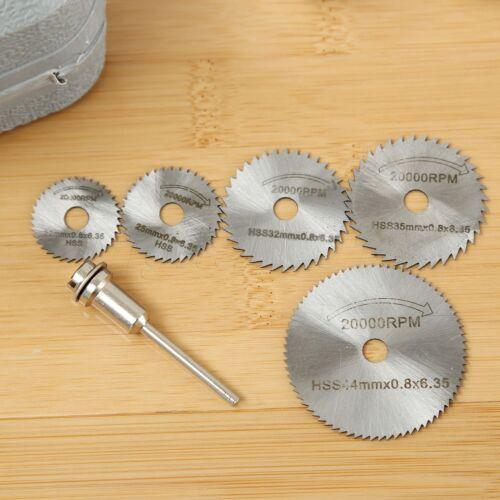 6pcs Haute Vitesse Acier Metal Scie circulaire roue à Disque Lames Couper Perceuse Outil Rotatif