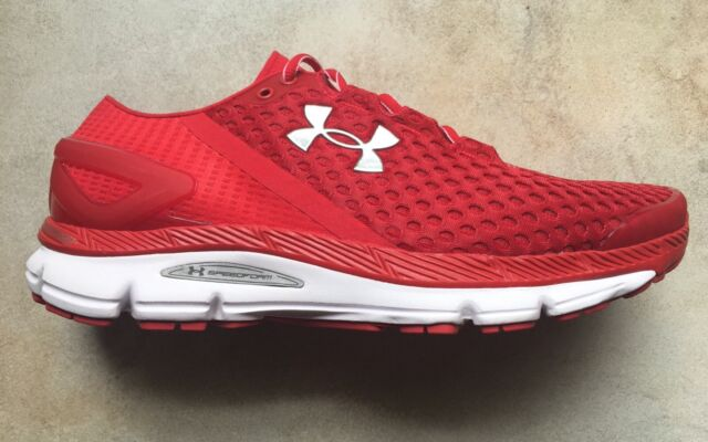 huge discount 4afb7 f147a UNDER ARMOUR UA SPEEDFORM GEMINI 2 MEN'S RUNNING SNEAKER SHOE RED ROUGE