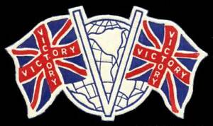 Canada - Patriotic Poster Stamp - WWII - V for Victory Die-Cut Label - Type 8a