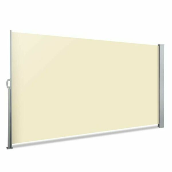 Instahut 2 x 3m Retractable Side Awning Shade - Beige for ...