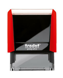 Image Is Loading TRODAT 4912 CUSTOM Printy RED Color FOR DEPOSIT