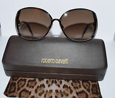 Ladies Roberto Cavalli Amaranto Brown Metal Sunglasses 663S
